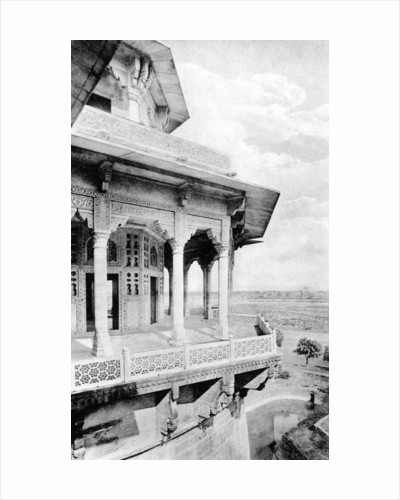 Samman Burj balcony at Agra Fort by Anonymous