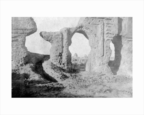 Ruined walls of the Enchanted Garden, just outside Samarra City, Iraq by Anonymous