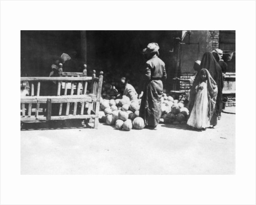 Fruit stall, Baghdad, Mesopotamia, WWI by Anonymous