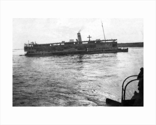 Red Cross river boat going up the Tigris River, Mesopotamia, WWI by Anonymous