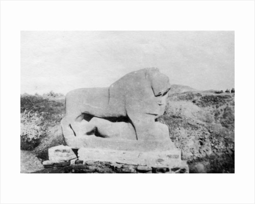 Lion of Babylon statue, Babylon, Babil, Mesopotamia by Anonymous