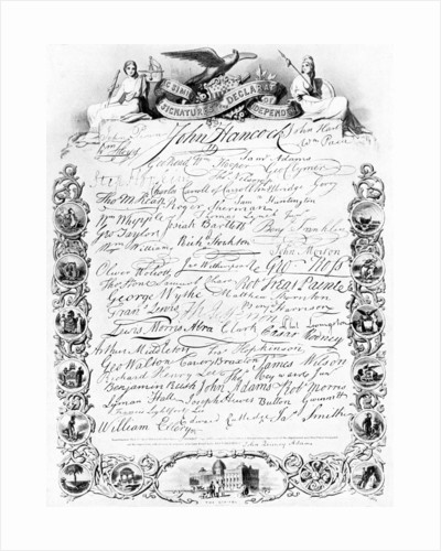 The signatures to the American Declaration of Independence by Anonymous