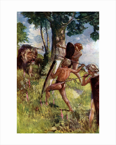 Lion hunters of the European Bronze Age by Anonymous