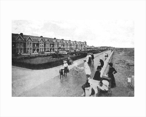 Families out walking on New Parade, East Worthing, West Sussex by Anonymous