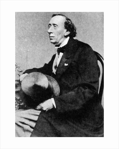 Hans Christian Andersen, Danish author and poet by Anonymous