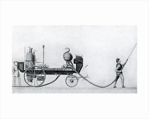 The first steam fire engine by Anonymous