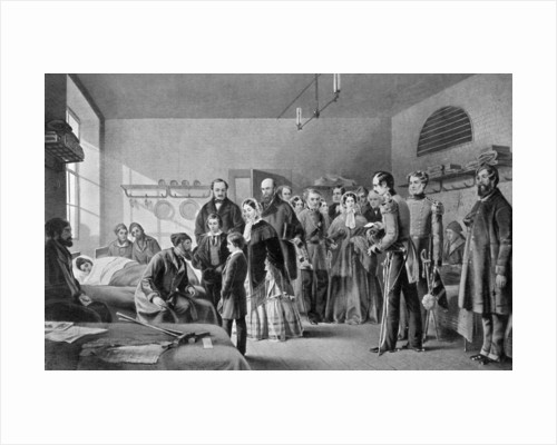 Queen Victoria visiting the wounded by Jerry Barrett