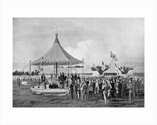 Queen Victoria firing the first shot at Wimbledon, July 1860 by Anonymous
