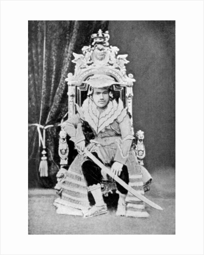 King Thibaw of Burma in full court dress by Anonymous