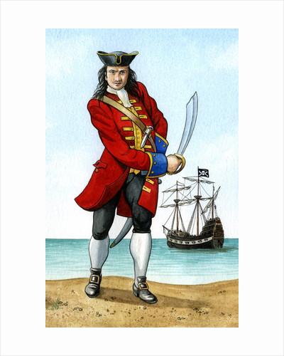 John 'Calico Jack' Rackham, (1680-1720), English Pirate Captain by Karen Humpage