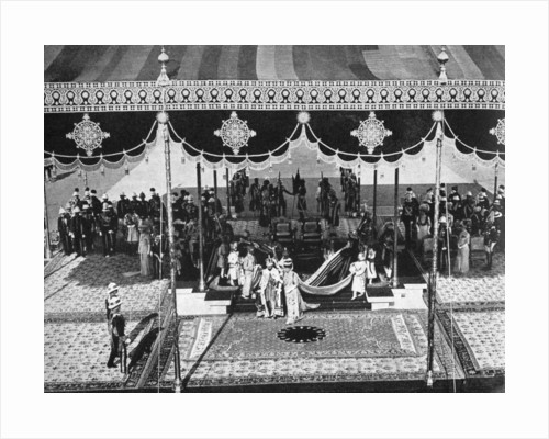 King George V (1865-1936) and Queen Mary (1867-1953) at the Delhi Durbar, India by Anonymous