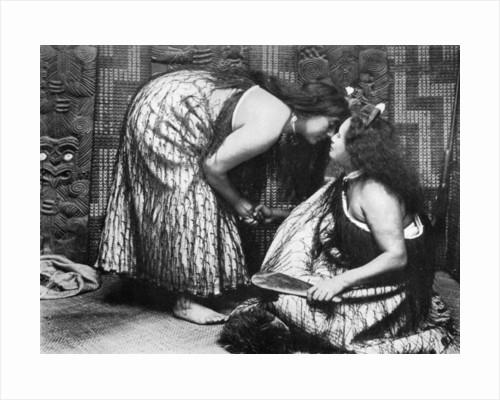 Hongi Maori salutations by JL Martin