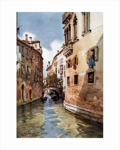 'Rio del Olio', Venice, Italy by William Alister Macdonald
