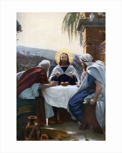 Breaking of Bread at Emmaus by Anonymous