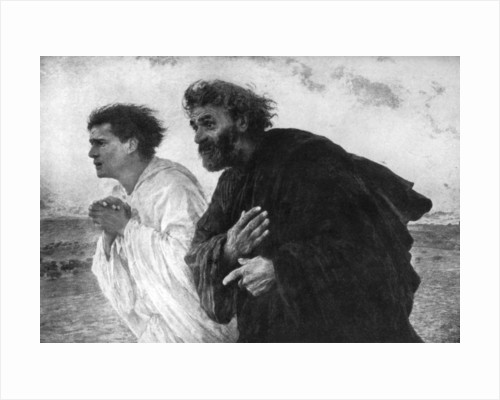 The Apostles Peter and John on the Morning of the Resurrection by Eugene Burnand