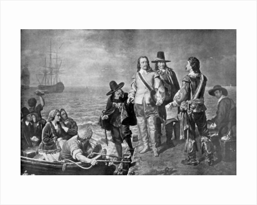 Hampden and Pym prevented from emigrating to New England by order of the government by Anonymous