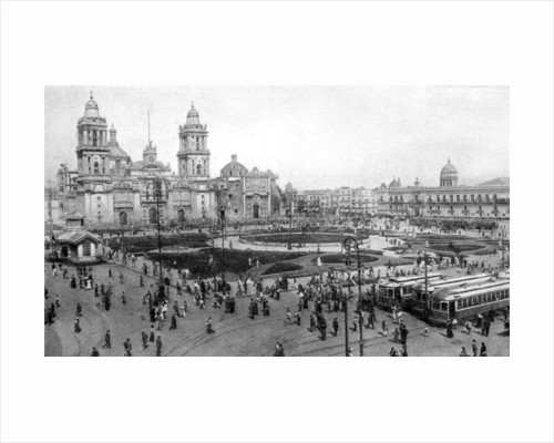 Cathedral and National Palace, Mexico City, Mexico by Anonymous