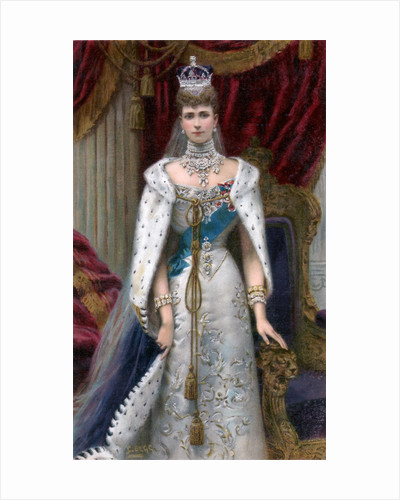 Queen Alexandra in full coronation robes by Anonymous