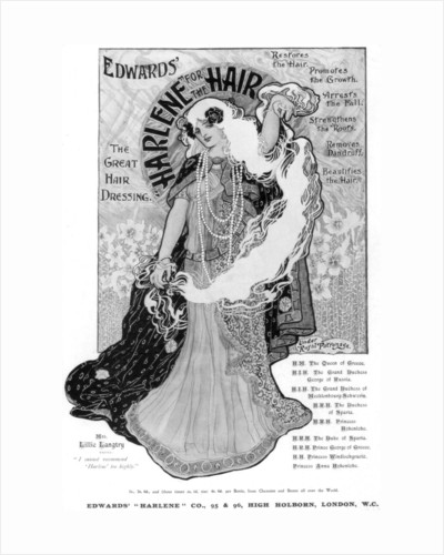 Advertisement for Edwards 'Harlene' for Hair by Anonymous