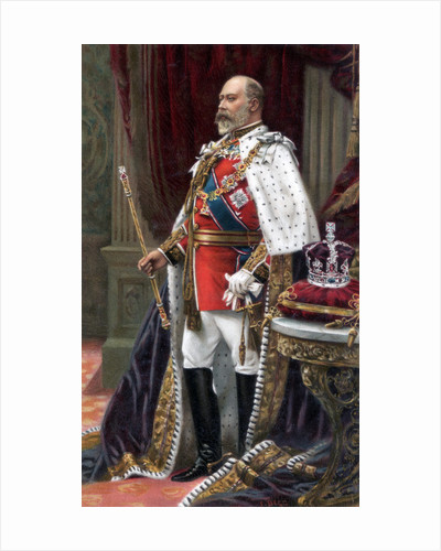 Edward VII in full coronation robes by Anonymous