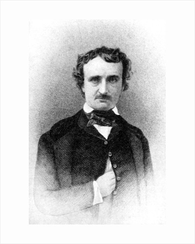 Edgar Allan Poe, Author of Tales of Mystery and Imagination by Rischgitz Collection