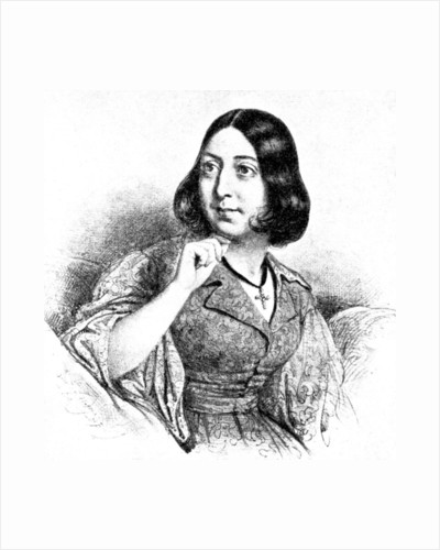 George Sand by Louis Leopold Boilly