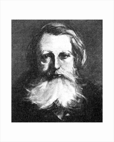 'John Ruskin', Victorian art critic by Anonymous