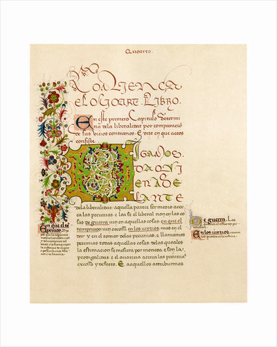 Illuminated letter 'D' by Anonymous