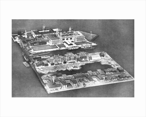 Aerial view of Ellis Island Immigration Station, New York, USA by Anonymous