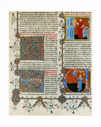 Illuminated initial letters with scenes from the life of St Jerome by Anonymous