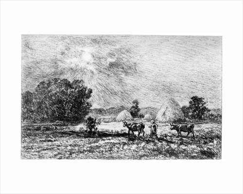 Clair de Lune a Valmondois by Charles François Daubigny