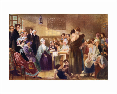 Elizabeth Fry (1780-1845) visiting Newgate Prison by Anonymous