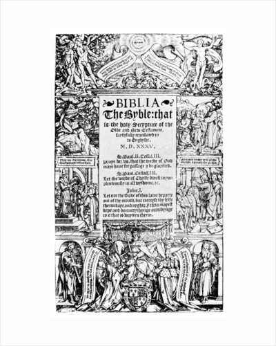Title page of the Coverdale Bible by Anonymous