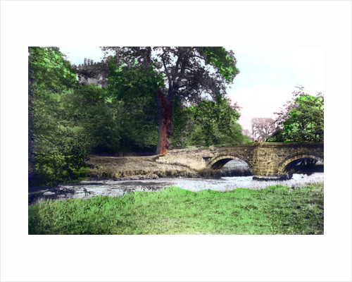 Bridge at Haddon Hall stately home, Derbyshire by Cavenders Ltd