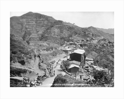 Sinauli village, with the Hindustan and the Tibet roads, Simla, India by Anonymous