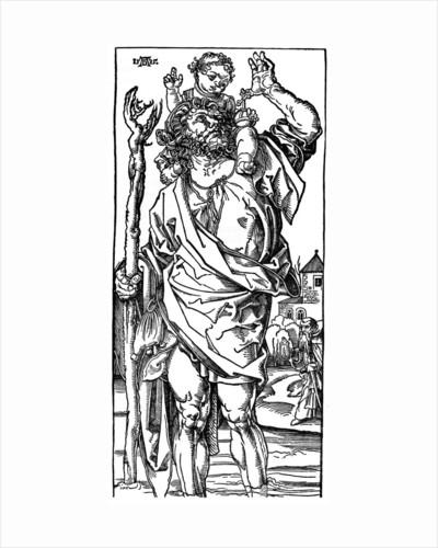 St Christopher carrying the Infant Christ by Albrecht Dürer