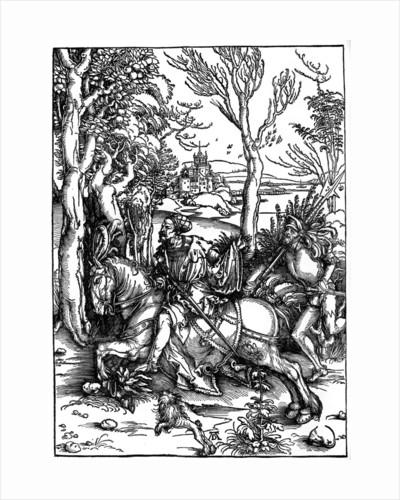 The Knight and the Landsknecht (Soldier Servant)' by Albrecht Dürer