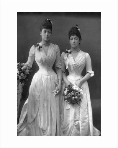 The Princesses Victoria (1868-1935) and Maud (1869-1938) of Wales by W&D Downey