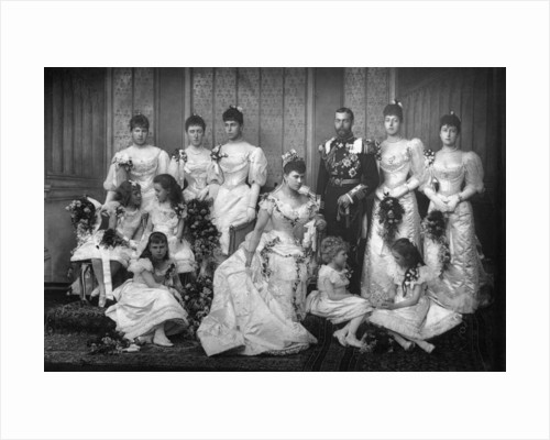 The Duke and Duchess of York and bridesmaids by W&D Downey