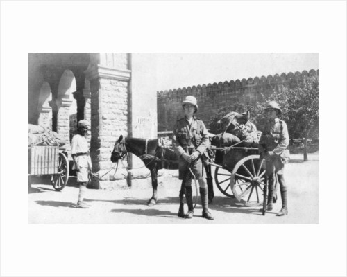 British army transport, Agra, India by Anonymous