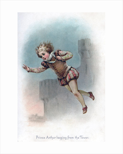 Prince Arthur leaping from the Tower by Frances Brundage
