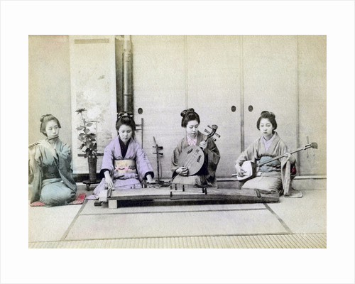 Geisha playing traditional musical instruments, Japan by Anonymous