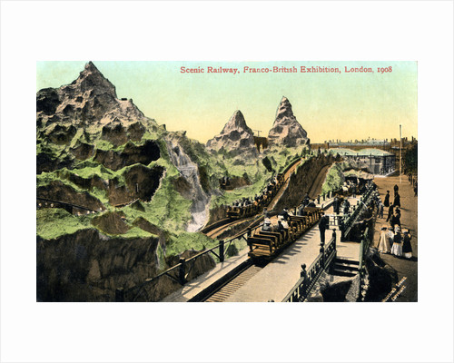 Scenic railway, Franco-British Exhibition, London by Valentine & Sons