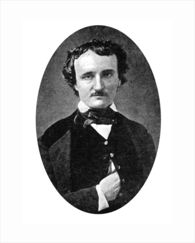 Edgar Allan Poe (1809-1849), American author and poet by Anonymous