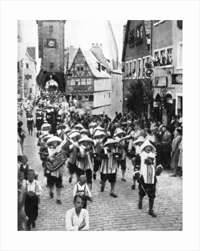 Festival in the medieval old town, Rothenburg ob der Tauber, Bavaria, Germany by Anonymous