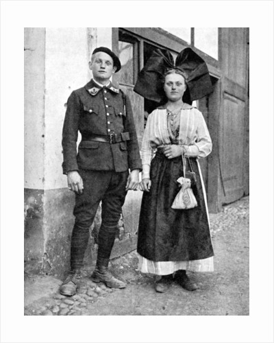 Couple in traditional dress, Alsace-Lorraine, Rhine by Donald McLeish