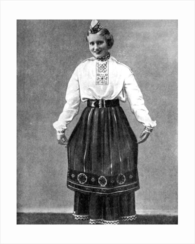 Estonian woman in traditional dress by Anonymous