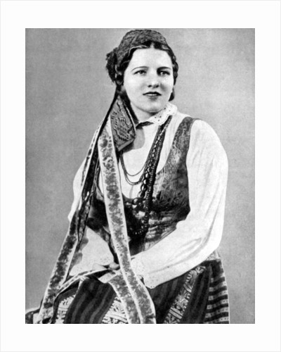 Lithuanian woman in traditional dress by Geoffrey L Portham