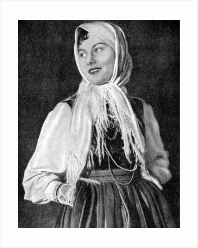 Polish woman in traditional dress by Anonymous