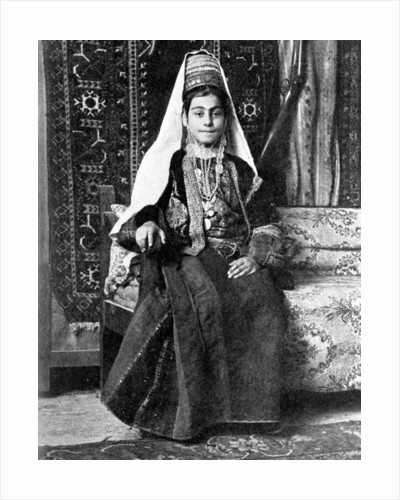 Christian woman in a wedding dress, Palestine by Donald McLeish
